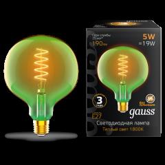 Лампа Gauss LED Filament Flexible G125-C Green E27 5W 190lm 1800K