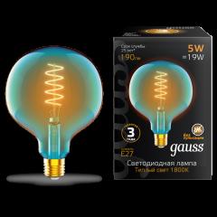 Лампа Gauss LED Filament Flexible G125-C Sky Blue E27 5W 190lm 1800K