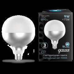 Лампа Gauss LED Filament G125-DC Mirror-Milky E27 9W 890lm 4000K