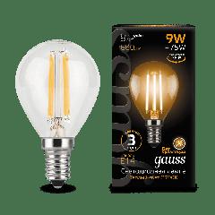 Лампа Gauss LED Filament Globe E14 9W 2700/4100K