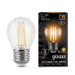 Лампа Gauss LED Filament Globe E27 7W 2700/4100K