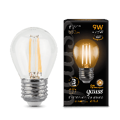 Лампа Gauss LED Filament Globe E27 9W 2700/4100K