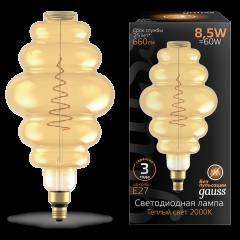 Лампа Gauss LED Filament Honeycomb GAUSS E27 8.5W Amber 660lm 2000K