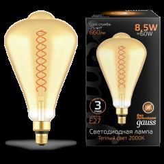 Лампа Gauss LED Filament ST164 GAUSS E27 8.5W Amber 660lm 2000K