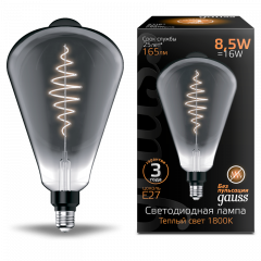 Лампа Gauss LED Filament ST164 GAUSS E27 8.5W Gray 165lm 1800K