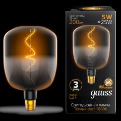 Лампа Gauss LED Filament V140-DC Black-Clear 5W E27 200lm 1800K