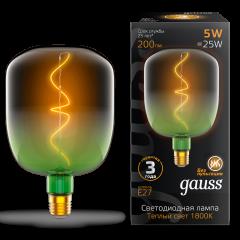 Лампа Gauss LED Filament V140-DC Green-Clear 5W E27 200lm 1800K