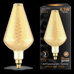 Лампа Gauss LED Filament Vase GAUSS E27 8.5W Amber 660lm 2000K