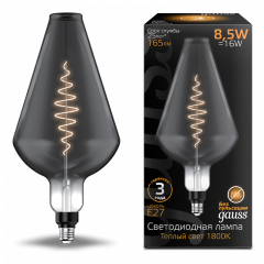 Лампа Gauss LED Filament Vase GAUSS E27 8.5W Gray 165lm 1800K