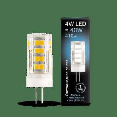Лампа Gauss LED G4 AC185-265V 4W 4100K керамика