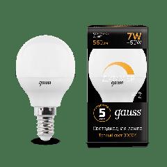 Лампа Gauss LED Globe-dim E14 7W 3000/4100К диммируемая
