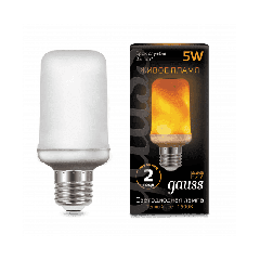 Лампа Gauss Led T65 Corn Flame 5W E27 1500K