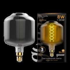 Лампа Gauss Led Vintage Filament Flexible DL180 8W E27 180*295mm Gray 2400K