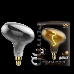 Лампа Gauss Led Vintage Filament Flexible FD180 6W E27 220*280mm Gray 2400K