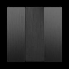 Набор клавиш для выключателя трехклавишного (графит рифленый) WL04-SW-3G-CP