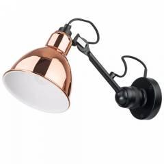 Настенный накладной светильник Loft 1х40W E14 385x360мм розовое золото/белый/черный/хром/золото