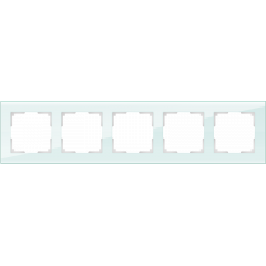 Рамка на 5 постов (натуральное стекло) WL01-Frame-05