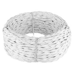 Ретро кабель витой 2х1,5 (белый) 50 м Ретро кабель витой  2х1,5  (белый)