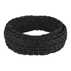 Ретро кабель витой 2х1,5 (черный) 50 м Ретро кабель витой  2х1,5 (черный)