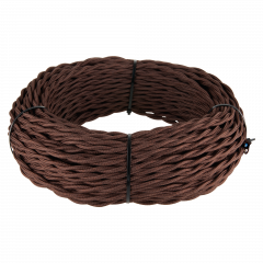 Ретро кабель витой 2х1,5 (коричневый) 50 м Ретро кабель витой  2х1,5 (коричневый)