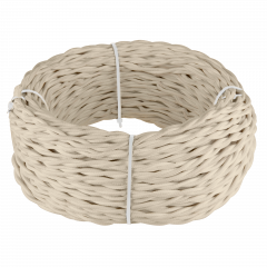 Ретро кабель витой 2х1,5 (песочный) 50 м Ретро кабель витой  2х1,5  (песочный)