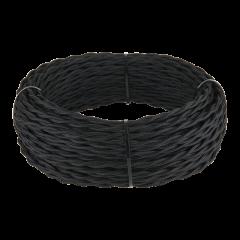 Ретро кабель витой 2х2,5 (черный) 50 м Ретро кабель витой  2х2,5 (черный)