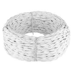Ретро кабель витой  3х1,5 (белый) 50 м Ретро кабель витой  3х1,5  (белый)