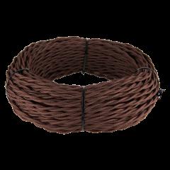 Ретро кабель витой 3х1,5 (коричневый) 50 м Ретро кабель витой  3х1,5  (коричневый)