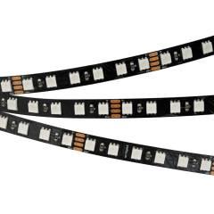 Светодиодная лента RT 2-5000 24V RGB 3X (5060, 420 LED, BLACK) (ARL, 21 Вт/м, IP20)