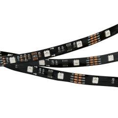 Светодиодная лента SPI-5000-AM 12V RGB (5060,150 LED x3,1804, Black) (ARL, Открытый, IP20)