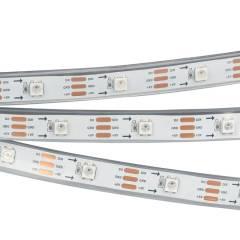 Светодиодная лента SPI-5000P-AM 5V RGB (5060, 150 LED x1, 2812) (ARL, Закрытый, IP66)