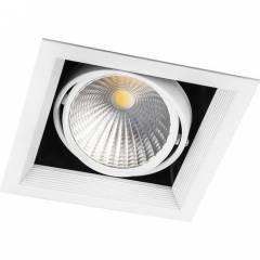 Светодиодный светильник Feron AL201 карданный 1x30W 4000K 35 градусов, белый