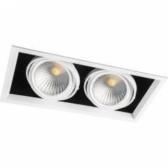 Светодиодный светильник Feron AL201 карданный 2x30W 4000K 35 градусов, белый