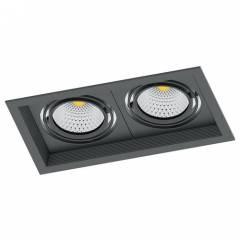 Светодиодный светильник Feron AL202 карданный 2x12W 4000K 35 градусов, черный/белый