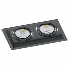 Светодиодный светильник Feron AL202 карданный 2x20W 4000K 35 градусов, черный/белый