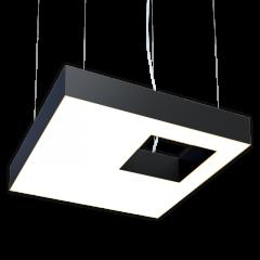 Светодиодный светильник Квадрат со смещенным отверстием RVE220323