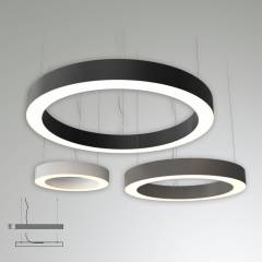 Светодиодный светильник LT-LBX-HOLE-RING-1950-P круг с отверстием