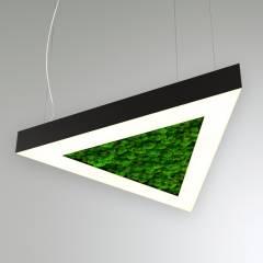 Светодиодный светильник Треугольник со мхом RVE20065