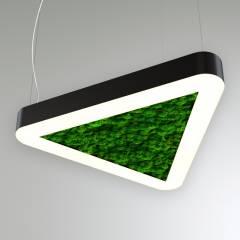 Светодиодный светильник Закругленный треугольник со мхом RVE20078
