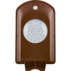 Светодиодный уличный фонарь консольный на солнечной батарее Feron SP2331 2W 6400K IP65, с датчиком движения, серый