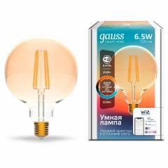 Умная лампа Filament Шар CCT+DIM 6,5 Вт 720 лм с функцией изменения яркости и оттенка света