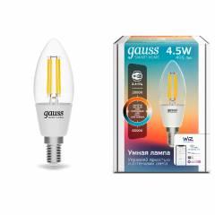 Умная лампа Filament Свеча CCT+DIM 4,5 Вт 495 лм с функцией изменения яркости и оттенка света