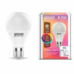 Умная лампа RGBW 8,5/10 Вт 806/1055 лм с функцией изменения яркости, оттенка света и цвета