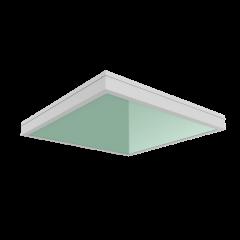 """Светодиодный светильник """"ВАРТОН""""  C070/GL медицинский встраиваемый 595*595*55мм с защитным силикатным стеклом"""